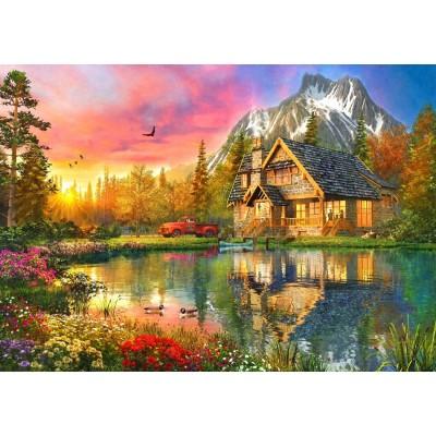 Bluebird-Puzzle - 1000 pieces - The Mountain Cabin