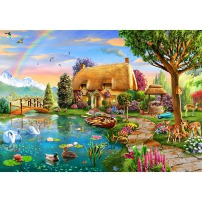 Bluebird-Puzzle - 2000 pieces - Lakeside Cottage