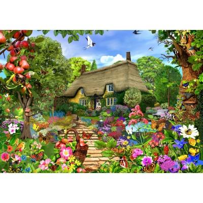 Bluebird-Puzzle - 1500 pieces - English Cottage Garden